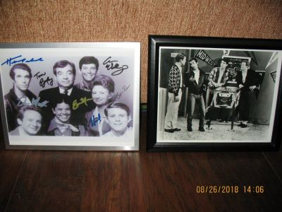 Happy Days Autographed Photo & Framed Photo of Male Cast