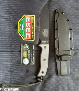 For Sale: ESEE 6 Knife w/ Sheath