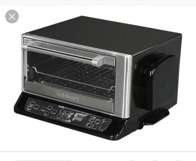 Cuisinart electric toaster oven. Brushed chrome and black. Excellent condition!