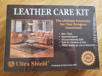 Leather care kit, new