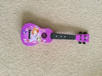 Sofia the First mini acoustic guitar