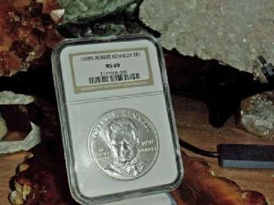 Exceptional Robert F Kennedy Silver Commemorative Silver Dollar 1998-S NGC MS 69