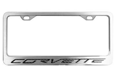 Find ACC 042110 - 05-13 Chevy Corvette License Plate Frame Car Chrome Trim motorcycle in Hudson, Florida, US, for US $51.61