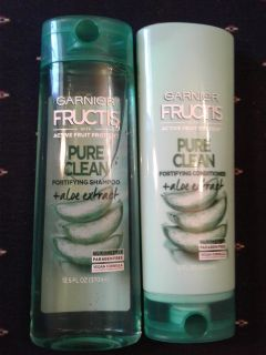 Garnier Fructis Pure Clean Paraben-Free Fortifying Shampoo & Conditioner New, Factory Sealed $4 for Both