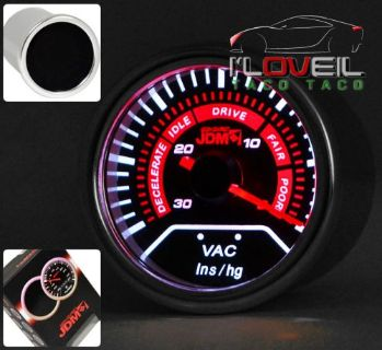"""Find UNIVERSAL 2"""" 52MM VAC VACUUM GAUGE ENGINE RATIO ANALOG NEEDLE SMOKE LENS TINT motorcycle in La Puente, California, United States, for US $21.99"""