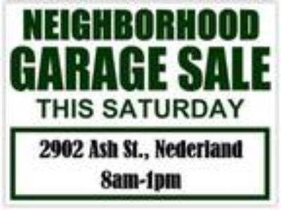 HUGE Multi-Family Garage Sale/Neighborhood - June 15, 2019 - June 15