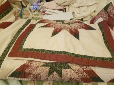 Quilt 68 by 86 comes with one pillow sham asking 15