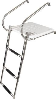 Purchase 3 STEP STAINLESS STEEL TELESCOPING BOAT LADDER PLATFORM-MARINE SWIM DECK USED) motorcycle in West Bend, Wisconsin, US, for US $149.99
