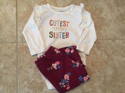 New Carter's little sister outfit 18 months