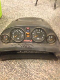 Sell Skidoo formula mach 1 z gauge cluster panel speedo tach temp fuel gauge motorcycle in Omro, Wisconsin, United States, for US $75.00