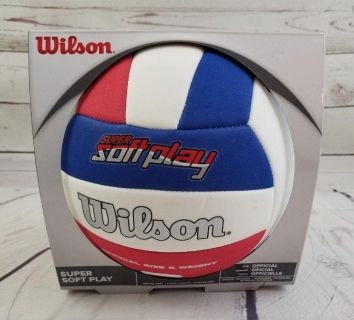 #1 Wilson Super Soft Play Volleyball Red/White/Blue Official size & Weight