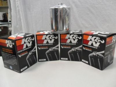 Sell K&N CHROME OIL FILTER HARLEY DAVIDSON Sportster LOT OF 4 KN 170C CHROME motorcycle in Fort Lauderdale, Florida, United States, for US $59.00