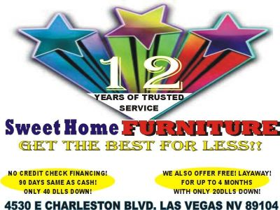 DO YOU NEED FURNITURE NOW!? ONLY $40 DOWN!!