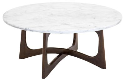 Vintage Adrian Pearsall Coffee Table w Marble Top
