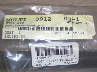 Find New Arctic Cat STEERING POST # 0705-189 1998-2000's motorcycle in Markesan, Wisconsin, US, for US $58.00