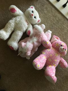 Lot of 3 plush toy build-a-bear