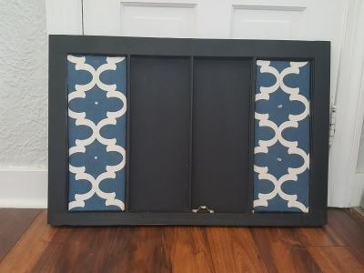 Large Chalkboard Pinboard Reminder Board Upcycled Window