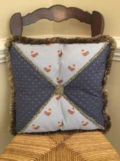 2 custom made french country pillows