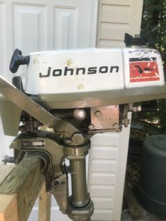 Two Horse Power Johnson Motor with Manual