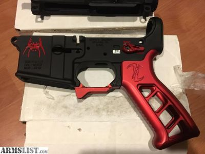For Sale: Spike's Tactical Red Spider Lower w/ red anodized parts