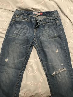 Aeropostale Distressed Bootcut Jeans