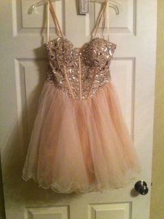 Dave and Johnny Chagne Prom Cocktail Short Gemstone Dress 78