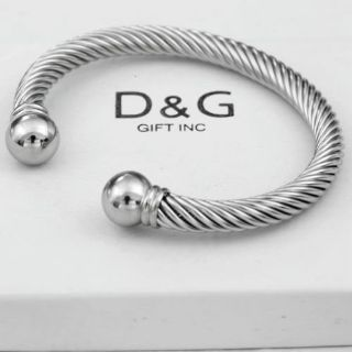 **BRAND NEW***Men's Silver Stainless Steel,Adjustable Round Cuff Cable,Bracelet***