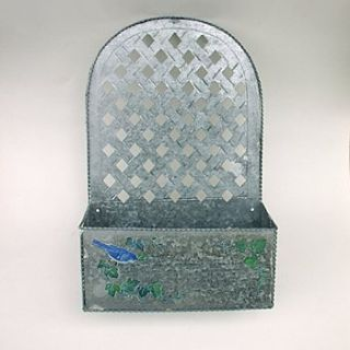 TIN PLANTER or LETTER BOX: Hang or Sit