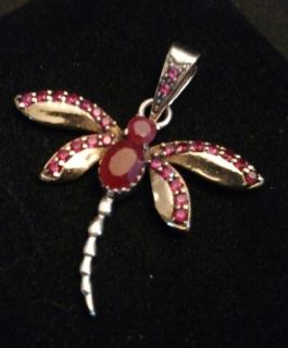 Sterling Silver & Ruby Pendant