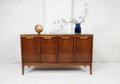 mid century modern 6 drawer dresser Basic-Witz #2