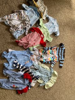 Bundle 6 months carters footed onesie 16 total
