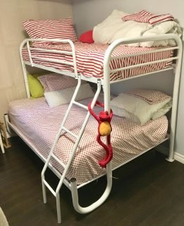 Bunk bed - single over double + matresses