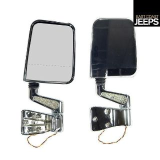 Buy 11016.02 RUGGED RIDGE Door Mirror Kit W/ LED Signal, Dual Focus, Chrome, 87-02 motorcycle in Smyrna, Georgia, US, for US $139.46