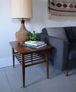 Lane Mid Century Modern Walnut Side Table