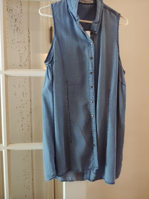 Maurice- Sleeveless Jean Shirt