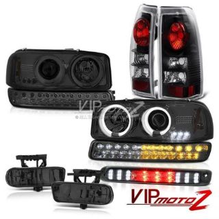 Sell 99-02 Gmc Sierra 3rd Brake Light Fog Lamps Rear Signal Lamp CCFL Headlamps Euro motorcycle in Walnut, California, United States, for US $362.32