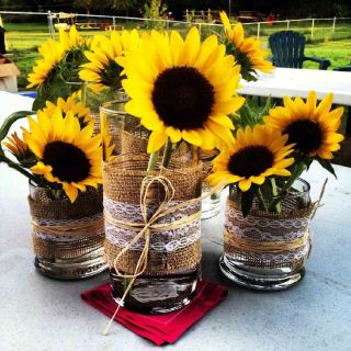 Buy Fresh Sunflower Wedding Centerpieces