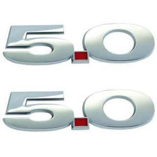 Purchase Ford Racing M-1447-M50 Mustang 5.0 Fender Emblems Chrome Pair motorcycle in Suitland, Maryland, US, for US $38.83