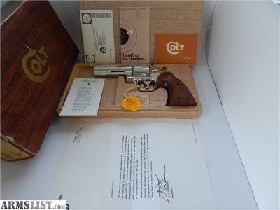"For Sale: COLT PYTHON NIB 4"""