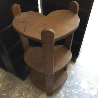 Wood Heart Shaped Accent Table