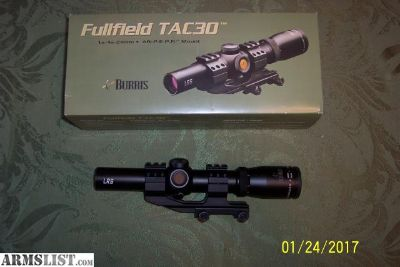 For Sale: Burris Fullfield TAC 30 Scope with AR-P.E.P.R. Mount