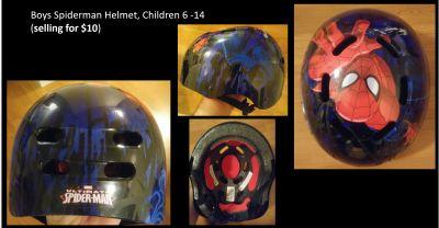 Boys Spider man Helmet, Children 6 -14