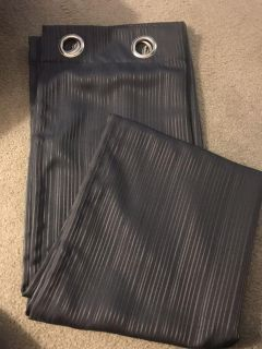 2-Navy black out curtains