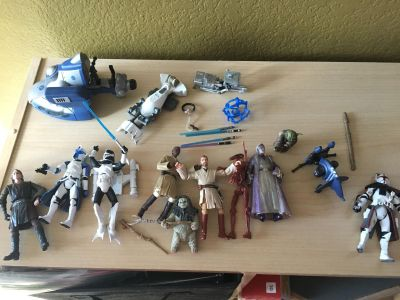 Star Wars Characters and weapons playset