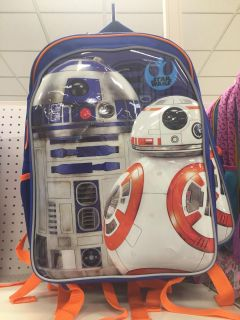 """Star Wars 16"""" Kids' Backpack with Lights - NEW"""