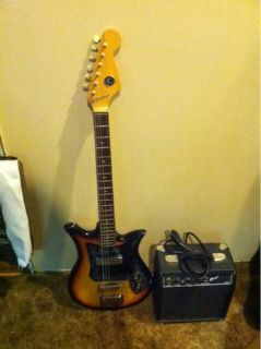 Vintage Kay k-1 electric guitar and fender sp10