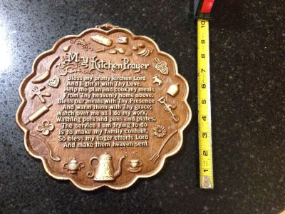 Kitchen Prayer Plaque