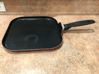 11 in. Square griddle Frying pan-(b56)