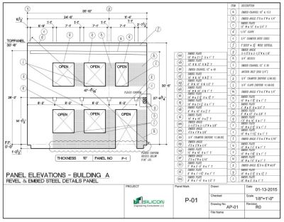 Rebar Fabrications Drawings - Silicon Engineering Consultants LLC