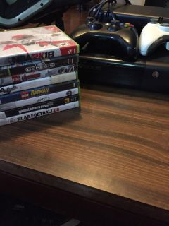 Xbox 360 with games & controllers